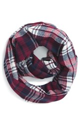 Junior Women's Bp. 'Heritage' Plaid Infinity Scarf