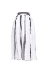 Jupe By Jackie Makalia Cotton Embroidered Skirt
