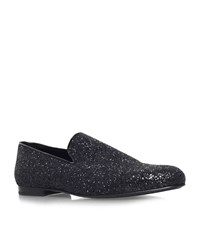 Jimmy Choo Sloane Glitter Slippers Male Black