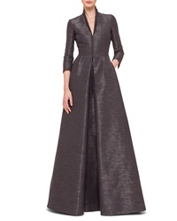 Akris 3 4 Sleeve Coat Style Gown Granite