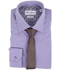 Robert Graham Arqua Dress Shirt Purple Men's Long Sleeve Button Up