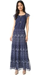 Joie Manalia Silk Dress Dark Navy