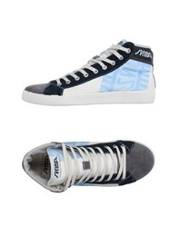 Springa Footwear High Tops And Trainers Men Sky Blue