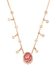 Jacquie Aiche Diamond Agate And Rose Gold Necklace Yellow Gold