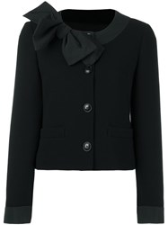Boutique Moschino Bow Detail Cardigan Black