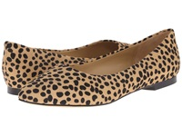 Trotters Estee Dark Tan Cheetah Women's Slip On Dress Shoes Animal Print