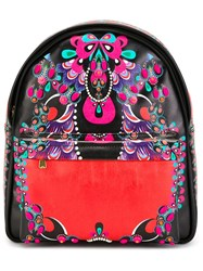 Manish Arora Small Printed Backpack Black