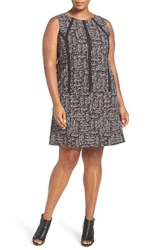 Nic Zoe Plus Size Women's 'Dots Direction' Shift Dress Multi