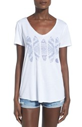 Women's Rip Curl 'Mayan Sun' Graphic V Neck Tee