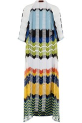 Missoni Mare Knit Cardigan With Cutout Striping Multicolor
