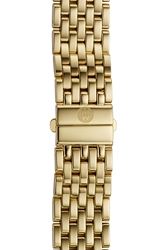 Michele 'Deco' 16Mm Gold Plated Bracelet Watch Band