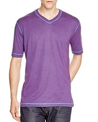 Robert Graham Nomads V Neck Tee Heather Purple