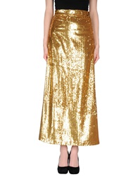 Beayukmui Long Skirts Gold
