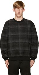Public School Black Centrum Wrinkled Plaid Pullover
