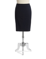 Jones New York Plus Plus Lucy Pencil Skirt Navy