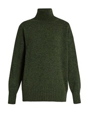 Vanessa Bruno Frances High Neck Wool Sweater Green