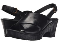 Born Coralyn Black Full Grain Leather Women's Wedge Shoes