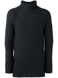 Forme D'expression Chunky Roll Neck Jumper Black