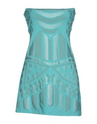 Met And Friends Short Dresses Turquoise