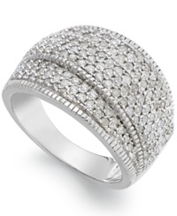 Wrapped In Love Diamond 1 Ct. T.W. Pave Crossover Ring In Sterling Silver