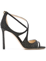Jimmy Choo 'Lumiere 100' Sandals Black