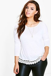 Plus Niamh Crochet Trim T Shirt