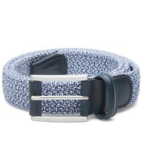 Andersons Anderson's Woven Marl Textile Belt Navy And White