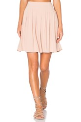 American Vintage Holiester Pleated Mini Skirt Blush