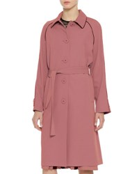 Bottega Veneta Wool Topcoat W Contrast Piping Dusty Rose Black