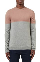 Topman Men's Colorblock Crewneck Sweater