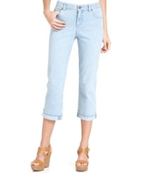 Styleandco. Style And Co. Tummy Control Capri Jeans Only At Macy's Cloud