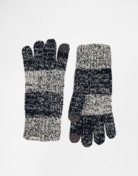 Jack Wills Dodford Block Stripe Gloves Navy