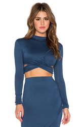 De Lacy Jules Crop Top Blue