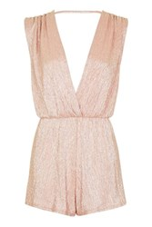 Rare Metallic Wrap Over Playsuit By Rose Gold