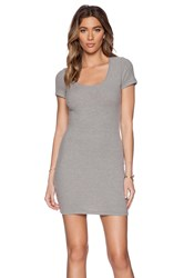 Saint Grace Clover Mini Dress Light Gray