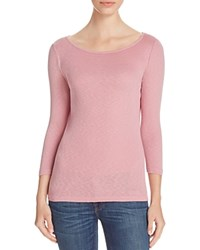 Three Dots Hannah Boat Neck Tee Cashmere Rose