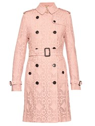 Burberry Kensington Broderie Anglaise Trench Coat