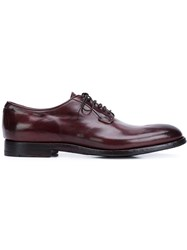 Alberto Fasciani Lace Up Derby Shoes Red