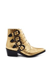 Toga Pulla Limited Edition 4 Strap Ankle Boots Metallic Gold