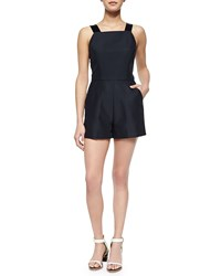 French Connection Paradise Satin Romper Nocturnal