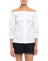 Walter Baker Sunny Off The Shoulder Shirt White