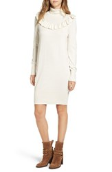 Leith Women's Ruffle Yoke Sweater Dress