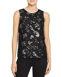 Cooper And Ella Avey Sequin Lace Tank Black