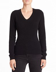 Lord And Taylor V Neck Cashmere Sweater Black