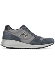 Hogan Lace Up Sneakers Blue