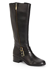Bandolino Carson Tripple Strap Leather Boots Black
