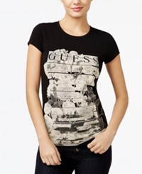 Guess Graphic T Shirt Jet Black
