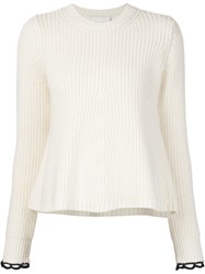 3.1 Phillip Lim Crew Neck Sweater White