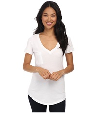 Lamade V Pocket Tee Tissue Jersey White Women's Short Sleeve Pullover