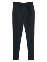Mango Bow Baggy Trousers Black
